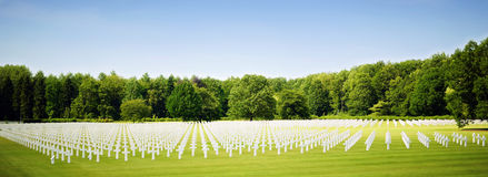 The American WW2 cemetery at Ardennes Stock Image