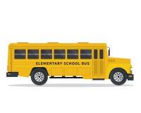 American Yellow School Bus Illustration Stock Photo