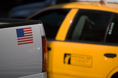 American yellow taxi cab Royalty Free Stock Photography