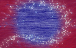 Americana Backdrop. Red and blue background with white and blue stars. Great use for greeting or postcard or backdrop Stock Images