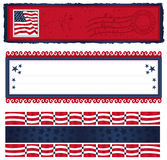 Americana Banners Too. Vector art in Illustrator 8. Banners for your All American, hooray for the Red, White and Blue designs Stock Photography