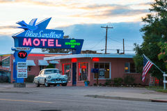 Americana Blue Swallow Motel Route 66 Royalty Free Stock Image