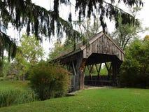 Americana covered bridge Stock Photo
