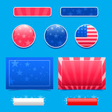 Americana design elements Stock Images
