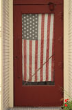 Americana Flag in Doorway Royalty Free Stock Photo
