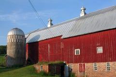 Americana - granero del rojo de Wisconsin Fotografía de archivo libre de regalías
