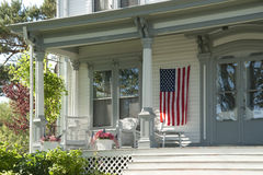 Americana house porch Royalty Free Stock Photos