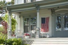 Americana house porch Royalty Free Stock Photos