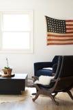 Americana Livingroom Fotografering för Bildbyråer