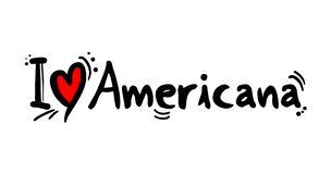 Americana muzyka stylu miłości wiadomość ilustracja wektor