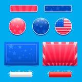 Americana projektów elementy Obrazy Stock