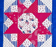 Americana Quilt Block Design Royalty Free Stock Photography