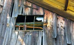 Americana. Rural Landscape, Old Barn, Broken Window Stock Photos