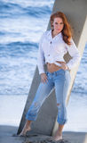 Americana style look on the beach Royalty Free Stock Image