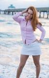 Americana style look on the beach Stock Photography