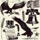 americana träsnitt royaltyfri illustrationer
