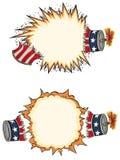 Americana Voetzoeker Starbursts Vector Illustratie