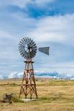Americanaweinlese-Windmühle Stockbilder