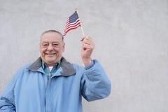 americanen är stolt pensionärer till Arkivfoton