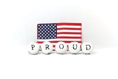 americanen är stolt till Arkivfoto