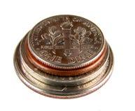 americanen coins kotten arkivfoto