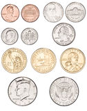 americanen coins pengar Royaltyfri Bild
