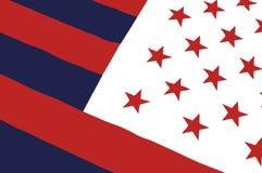 americanen fejkar flaggan Arkivbild