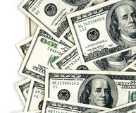 Americano 100 contas de dólar Imagens de Stock Royalty Free