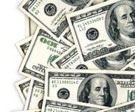 Americano 100 cuentas de dólar Imágenes de archivo libres de regalías