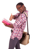 Americano africano novo do estudante universitário Imagem de Stock