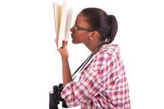 Americano africano novo do estudante universitário Fotografia de Stock