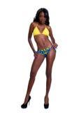Americano africano sensual no biquini Imagem de Stock Royalty Free
