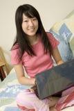 Americano asiático Imagen de archivo libre de regalías
