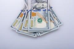Americano 100 billetes de banco del dólar Fotos de archivo libres de regalías