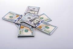 Americano 100 billetes de banco del dólar Imágenes de archivo libres de regalías