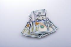Americano 100 billetes de banco del dólar Fotografía de archivo libre de regalías