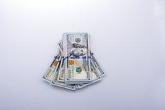 Americano 100 billetes de banco del dólar Foto de archivo libre de regalías