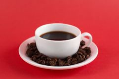 Americano black coffee stock image
