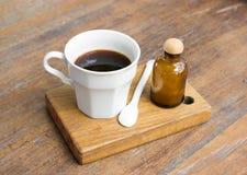 Americano black coffee. Stock Photo