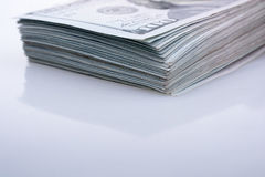 Americano 100 cédulas do dólar Imagem de Stock