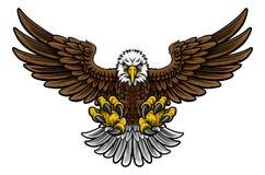 Americano calvo Eagle Mascot stock de ilustración