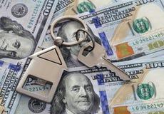 Americano cem notas do dólar Fotos de Stock