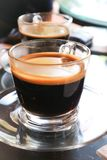 Americano chaud ou café chaud Photo libre de droits