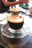 Americano chaud ou café chaud Photographie stock