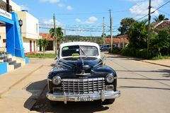 Americano Chevrolet em Vinales, Cuba imagem de stock royalty free