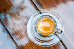 Americano coffee cup on table in cafe Royalty Free Stock Images