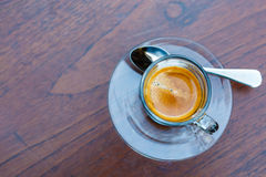 Americano coffee cup on table in cafe Stock Image