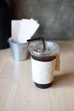 Americano délicieux de café de glace Photo stock