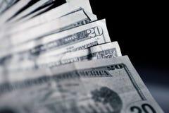 Americano 20 dólares Fotografía de archivo