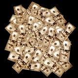 Americano 100 dólares no estilo do vintage Fotografia de Stock